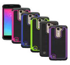For LG K7/Tribute 5 Case Hybrid Dual Layer Rugged Impact Hard Protective Cover