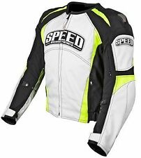 Speed and Strength Twist of Fate 3.0 Textile Jacket White/Hi-Vis Motorcycle
