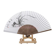 Asin Chinese Japanese Paper Bamboo Hand Folding Fan for Wedding Photo Decoration