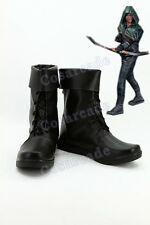Green Arrow Queen Oliver Cosplay Costume Prop Boots Shoes Custom Made Footwear