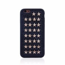 Punk Stylish Black Case for Apple iPhone 6 Rivet Style Skin Cover Metal Stars