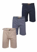 New Mens Tokyo Laundry Odilon Casual Belted Tailored Chino Shorts Bottoms S-XXL