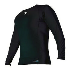 THERMAL BASE LAYER LONG SLEEVED SHIRT (PRECISION TRAINING) - BLACK.