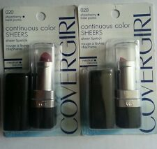 2X COVERGIRL CONTINUOUS COLOR SHEER LIPSTICK *CHOOSE YOUR SHADE*
