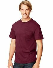 2-Hanes Beefy-T Adult POCKET T-Shirts ASSORTED COLORS Sizes S - 3XL