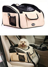 FABIC LUXURY CAR SEAT & CARRIER CAT SMALL DOG PET PUPPY TRAVEL CAGE BAGS BOOSTER