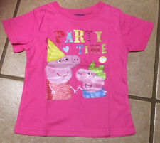 NWT Girls Peppa Pig Brother George PARTY TIME Graphic Tee Top Sizes 2 3 4 5 6