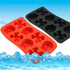Silicone Tray Mould Ice Molds Mold Cube Bar Party Jelly Maker Skull 0063