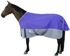 CARIBU Turnout Rainsheet Horse Rug 1200 Denier Waterproof, Reflectors, Purple