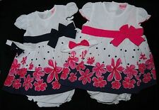 Baby Girls Floral Bow Summer Dress Pants Headband Set 3-18 Month *One Supplied*