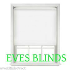 BLACKOUT WHITE Made to Measure Roller Blinds Window Blind BEST QUALITY ON EBAY