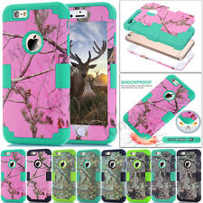 Camo Hybrid Heavy Duty Shockproof Hard Armor Case Cover For iPhone 5S SE 6S Plus