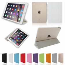 Leather Stand Smart Cover Hard Back Case Protect Fit iPad mini Air 2 3 4 5 6
