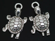 40/240pcs Tibetan Silver Beautiful Turtle Jewelry Finding Charms Pendant 23x12mm