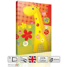 NURSERY BABY KIDS BEDROOM ANIMAL LOVELY GIRAFFE CANVAS WALL ART DIGITAL PICTURE