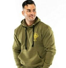 Muscle Works Gym London Fitted Pull Over T-shirts Training Top Hoodie Sweatshirt