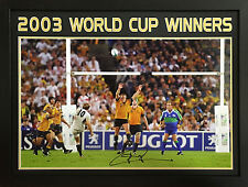 JONNY WILKINSON FRAMED SIGNED ENGLAND 2003 WORLD CUP FINAL 30x20 PHOTO COA PROOF