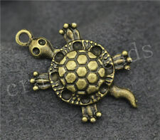 20/100pcs Antique Bronze Lovely Sea turtles Jewelry Craft Charms Pendant 32x18mm