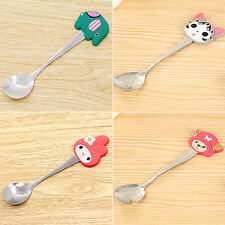 Kids Stainless Steel Spoon Cute Cartoon Silicone Coffee Spoons Kitchen Stunning