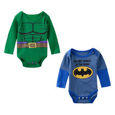 Halloween Baby Boys Girls Superhero Bodysuit Onesie Infant Funny Babygrow