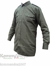 BRITISH ARMY GENERAL SERVICE LONG SLEEVE SHIRT OLIVE GREEN MILITARY UNIFORM