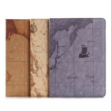 World Map PU Leather Flip Stand Case Smart Sleep/Wake Cover For Apple iPad Pro
