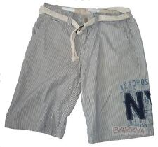 Mens AEROPOSTALE Belted Striped Blue Shorts NWT #7052
