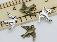 30/150pcs Tibetan Silver/Bronze Lovely Seagull Charms Pendant Connector 21x17mm