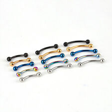 Stainless Steel Curved Barbell Eyebrow Rings Bars Piercing Body Jewelley 10x