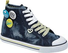 Pineapple Infant Girls 13 & Youth UK 5 Scream Blue Denim Hi Top Trainers BNIB