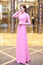 AO DAI Vietnam CUSTOM MADE, Pink Silk Dress & Pink Silk PANT, Custom Size