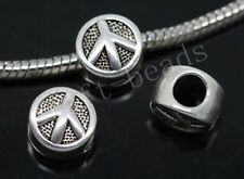 30/150pcs Tibetan Silver Bulk Lots big hole peace Beads European Charms Beads