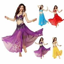 New Belly Dance Costume Clothing sets 3 Pics Bra & Belt&skirt  32-38 A/B/C