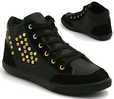 NEW WOMENS LADIES ANKLE LACE UP HIGH TOP PUMPS SHOES FLAT BOOTS TRAINERS SIZE