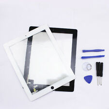 White Black Touch Screen Glass Lens Digitizer Replacement for iPad 2 2ND +Tools