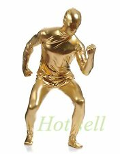 2ND SKIN FULL BODY SUIT COSTUME CATSUIT ADULT  JUMPSUIT UNITARD GOLD