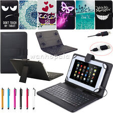 """Micro USB Keyboard Leather Case Cover For 10"""" 10.1"""" 10.2"""" inch Android Tablet PC"""
