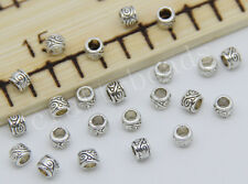 200/1000pcs Tibetan Silver cylindrical Beads Charms Spacer Beads 4x3mm