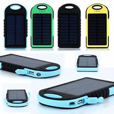20000mAh Dual-USB Waterproof Solar Power Bank Battery Charger For iPhone Mobile