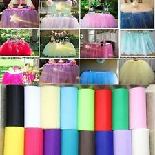 "New 6""x 25yd Tulle Roll Spool Tutu Wedding Party Gift Fabric Craft Decorations x"