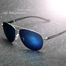 New HD Polarized Sunglasses Mens Retro Driving Mirrored Glasses Eyewear -UV400