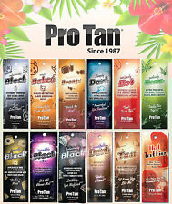 Pro Tan Sunbed Tanning Lotion Sachets Natural Accelerators,Bronzers,Hot Tingle