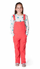 USKEES Beth Pink Girls Dungarees Age 6 8 10 12 Cute Summer Soft Cotton Overalls