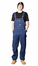 Big Smith Indigo Men's Dungarees Work Overalls for Men Blue Jeans B94009DB