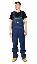 Mens Dungarees Indigo Blue Denim Work Dungarees from Liberty USA Big and Tall
