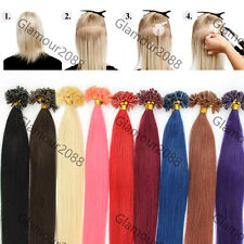 100S Fusion Pre Bonded Glue Nail/U Tip Remy Real Human Hair Extensions Straight