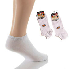 12 or 6 Pairs Men's Quality Plain Cotton Rich Trainer Liner Socks Black or White