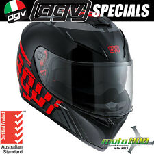 AGV K3 SV Myth Black/Red Motorcycle RoadBike Race Track Sport Helmet