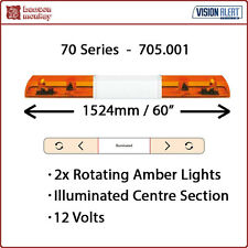 "Vision Alert 1.5m 60"" 70 Series Rotator Van/Pickup Amber Beacon Lightbar 12V"