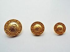 6 GOLD TONE METAL SUN MOON SIGNS OF THE ZODIAC BLAZER COAT BUTTONS 23 17 or 15mm
